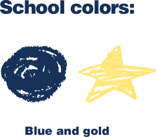 School colors: Blue and gold