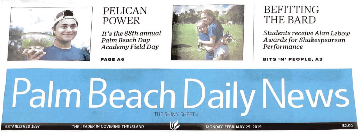 Palm Beach Daily News features PBDA Field Day 2019
