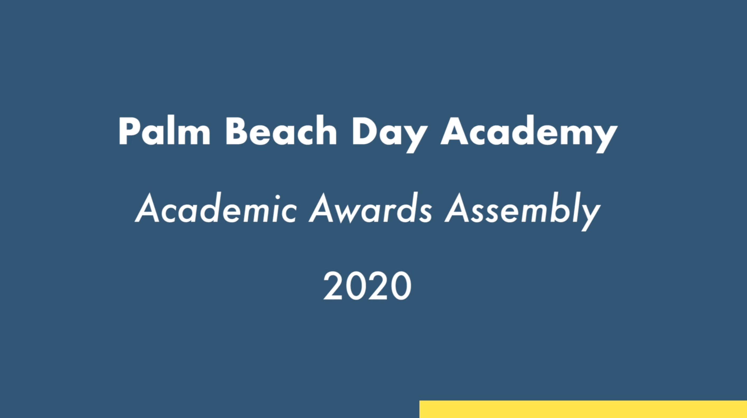 PBDA Academic Awards Ceremony 2020
